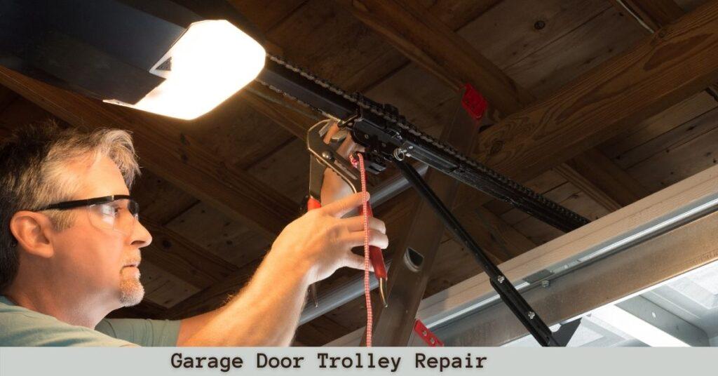 How to repair a garage door broken trolley